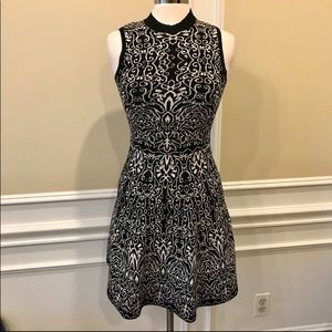Xhilaration black and white sweater dress